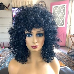 black synthetic costume wig Cher hair new